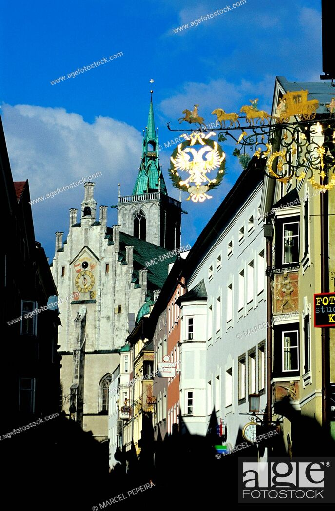 Stock Photo: Austria, Tyrol, Schwaz, signs.