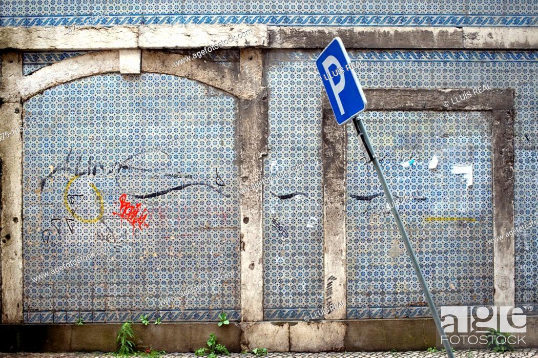Stock Photo: Façade, Lisbon, Portugal.