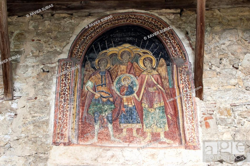 Imagen: Fresco, Holy Archangels Michael and Gabriel church, Arbanasi, Veliko Tarnovo, Bulgaria.