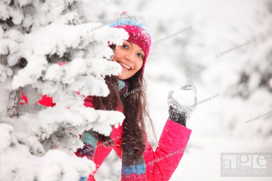 Stock Photo: play snowballs play snowballs.
