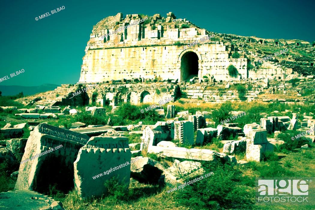 Stock Photo: Miletus ancient greek city ruins  Aydin province  Western coast of Anatolia  Turkey.