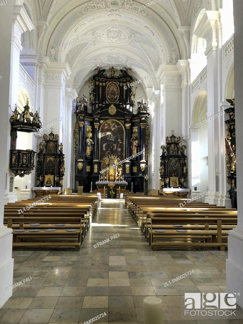 Stock Photo: St. Stephen's Cathedral, Passau. St. Stephen's Cathedral (German: Dom St. Stephan) is a baroque church from 1688 in Passau,.