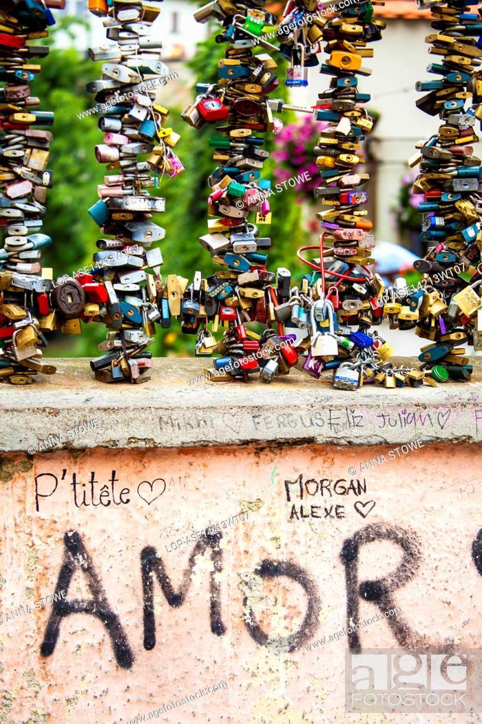 Czech Republic Prague Prague Padlocks As Symbols Of Eternal Love