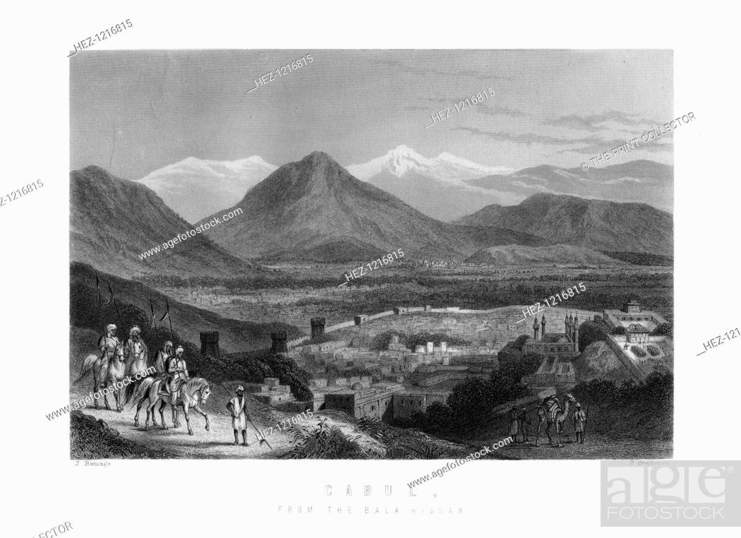 Stock Photo: Kabul from the Bala Hissar, Afghanistan, 1893. An Engraving from James Taylor's The Age We Live In: A History of the Nineteenth Century.