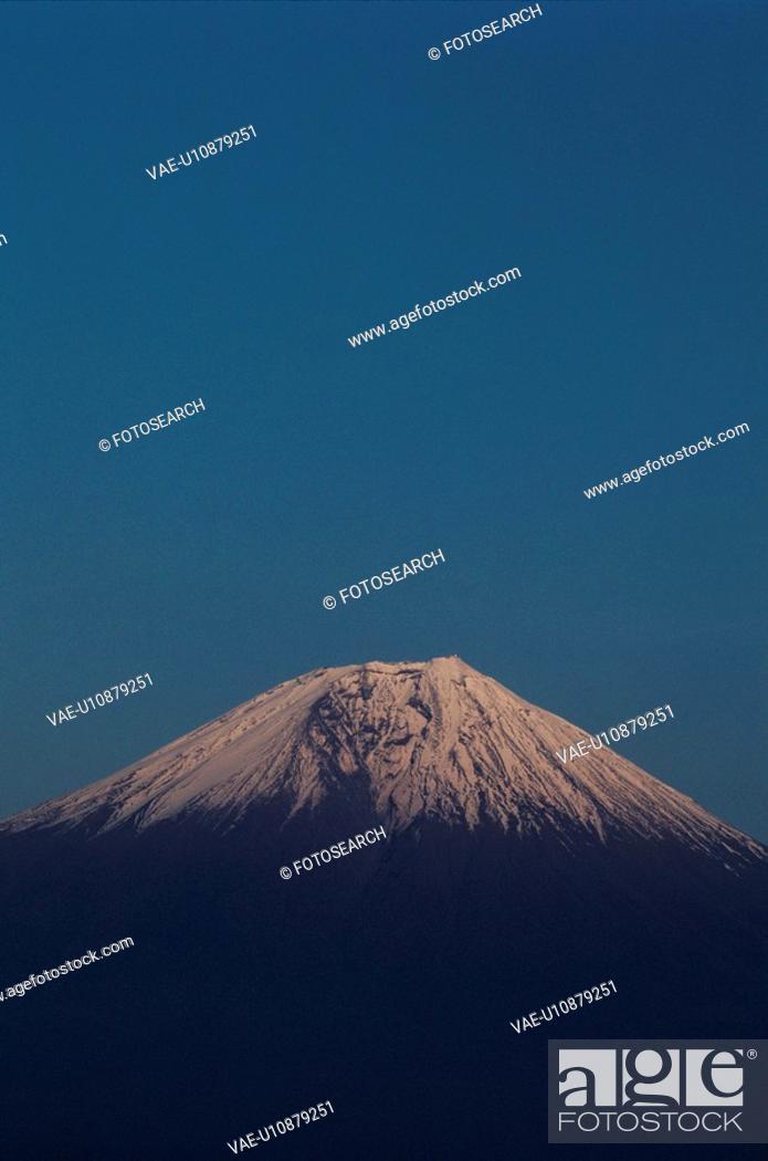 Stock Photo: Peak Of Mountain Fuji.