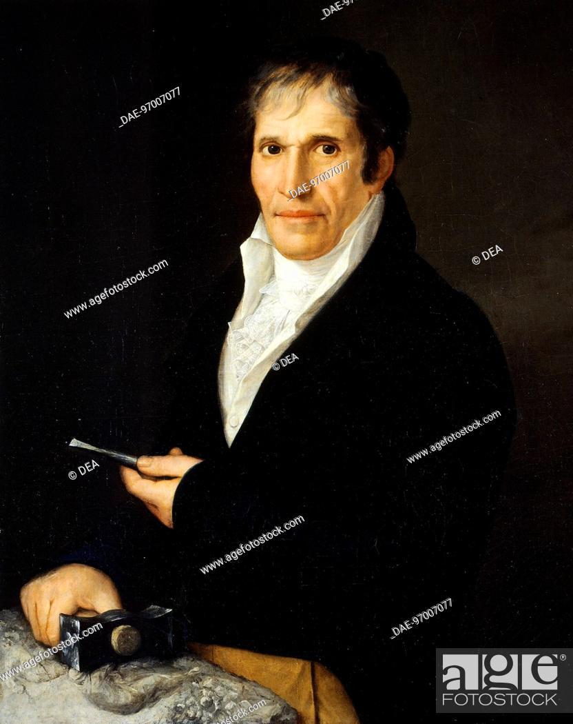 Stock Photo: Portrait of the sculptor, Bartolomeo Carrea, by Rosa Bacigalupo Carrera (1794-ca 1854).  Genoa, Museo Dell'Accademia Ligustica Di Belle Arti (Art Museum).