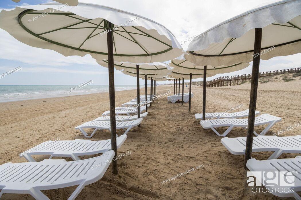 Stock Photo: Guardamar del Segura beach Alicante Spain.