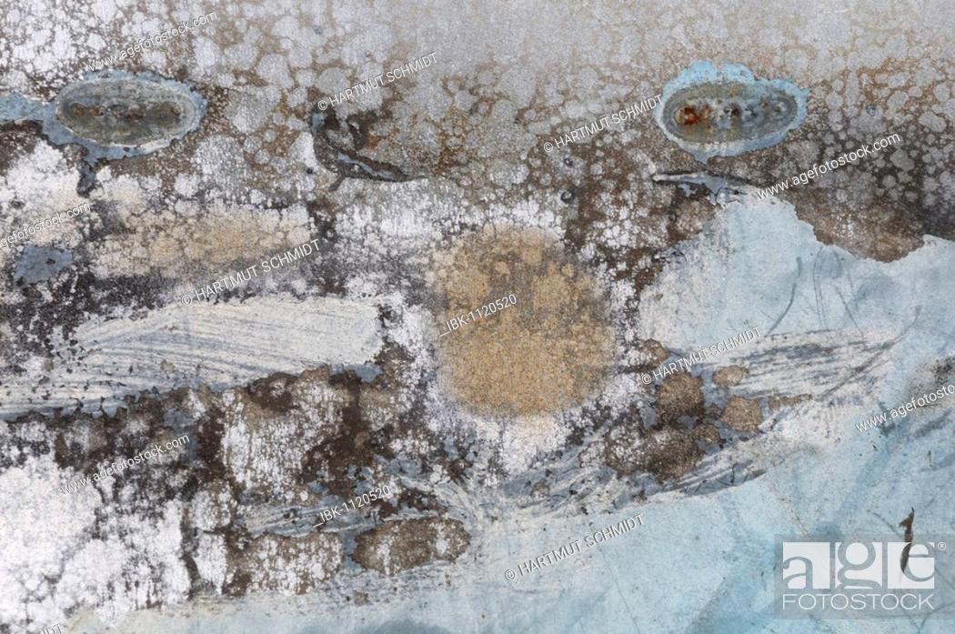 Stock Photo: Corroded metal surface, background.
