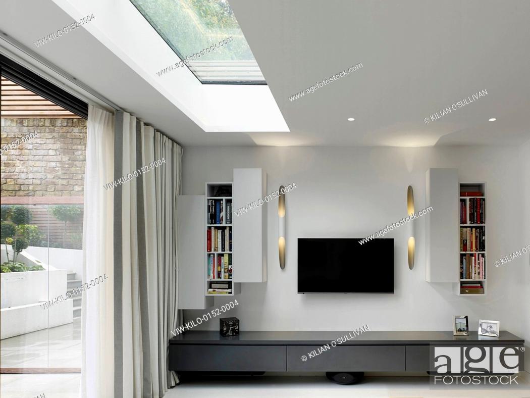 Stock Photo: Living room. Maida Vale House, London, United Kingdom. Architect: Stiff + Trevillion Architects, 2014.