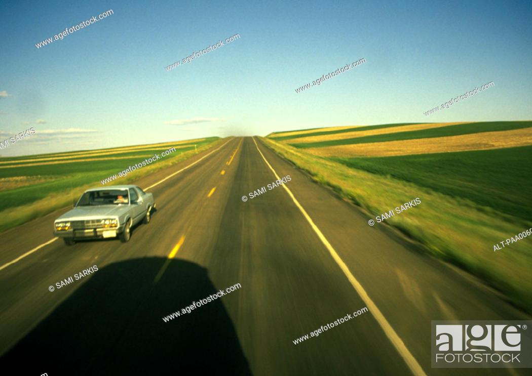 Stock Photo: Birds eye view of road.