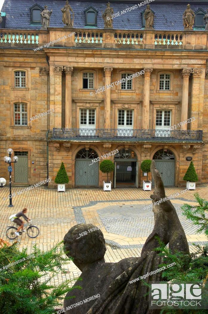 Stock Photo: Bayreuth, Opera House, Opera del Margrave, Opera Street, Opernstrasse, Upper Franconia, Franconia, Bavaria, Germany.