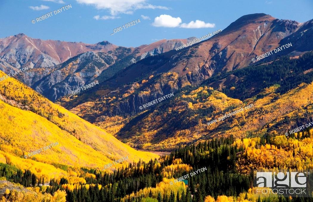 Stock Photo: A grand scenic of the Rocky Mountains in autumn.