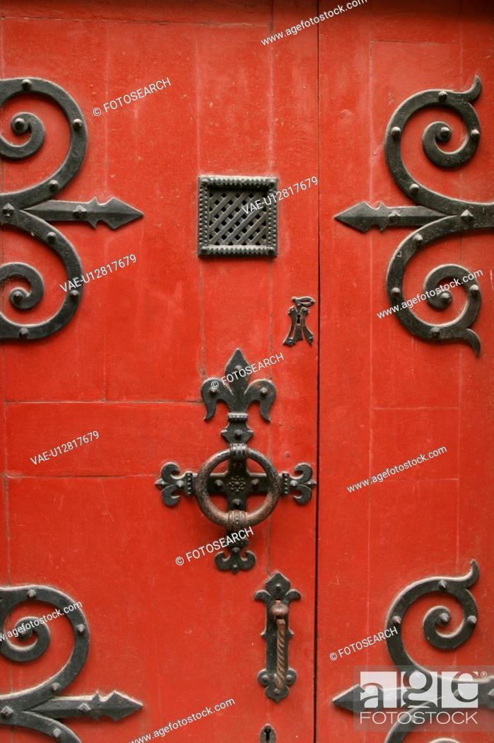 Stock Photo: Close-Up, Decorative, Door, Doors, Fixed.