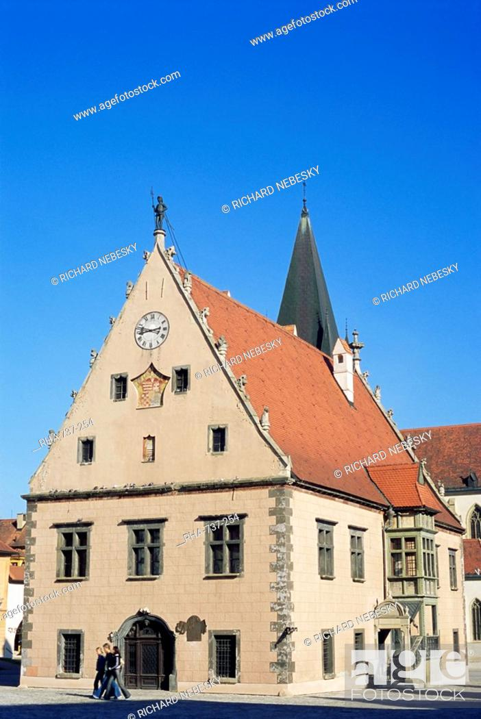 Stock Photo: Renaissance town hall dating from 1509, one of the most unique Renaissance structures in the world, Radnicne Square, Bardejov, UNESCO World Heritage Site.