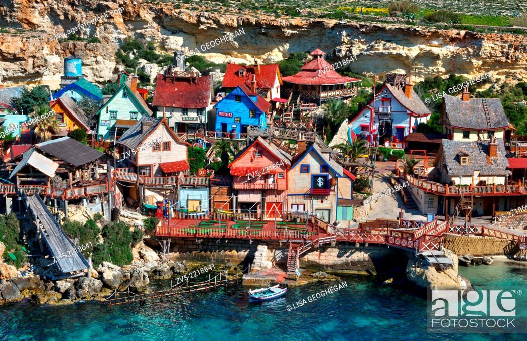Imagen: Popeye Village Also Known As Sweethaven Village, Anchor Bay Near Mellieha, Malta.