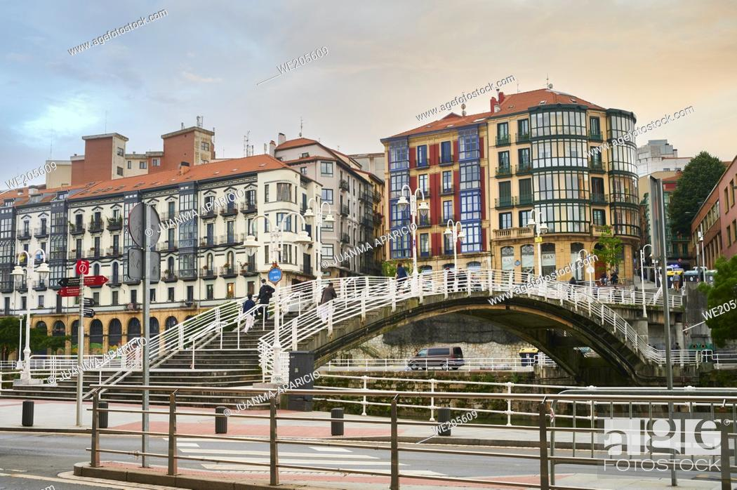 Stock Photo: Puente de la ribera (Ribera Bridge) bilbao, biscay, basque country, euskadi, euskal herria, spain, europe.