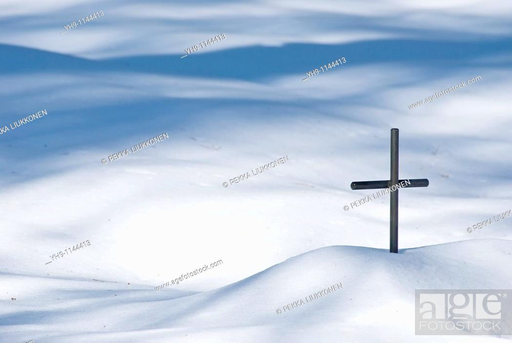 Photo de stock: A Metal Cross.