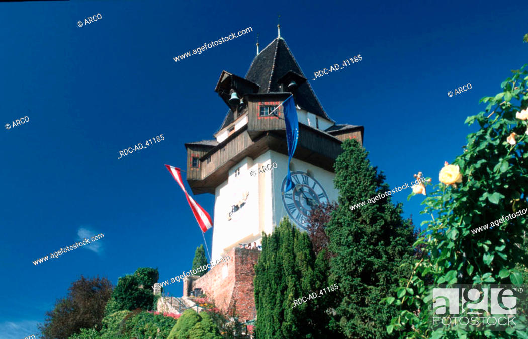 Clock Tower Graz Austria Stock Photo Picture And Rights Managed