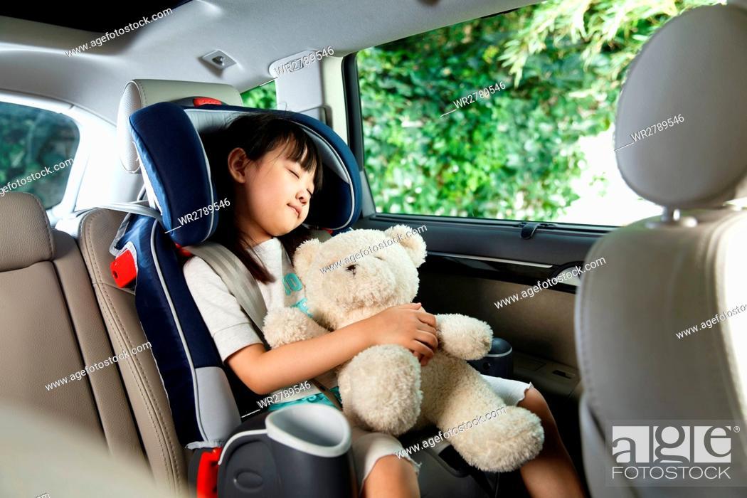 Stock Photo: Girl in car.