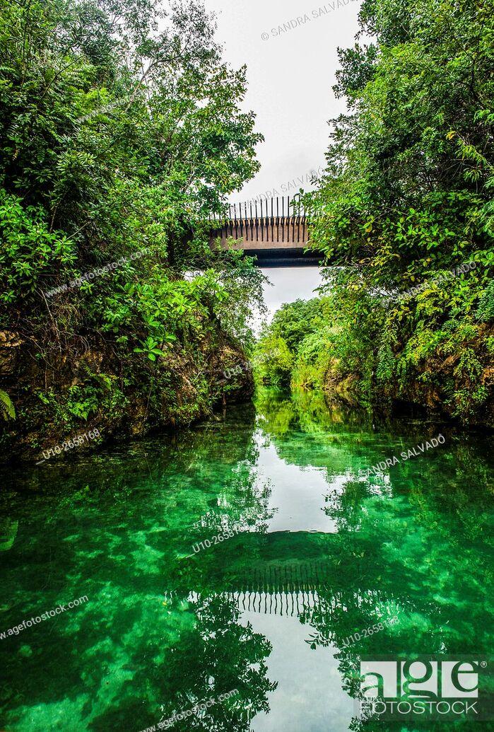 Stock Photo: Mayakoba Rosewood, Riviera Maya, Quintana Roo. México.