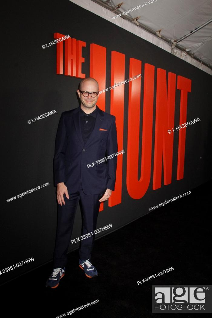 """Stock Photo: Damon Lindelof 03/09/2020 The Special Screening of """"""""The Hunt"""""""" held at The ArcLight Hollywood in Los Angeles, CA. Photo by I."""