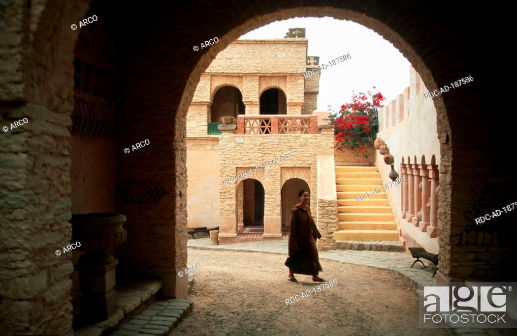 Berber Woman Inner Courtyard Medina Agadir Morocco Archway Stock Photo Picture And Rights Managed Image Pic Rdc Ad 187586 Agefotostock