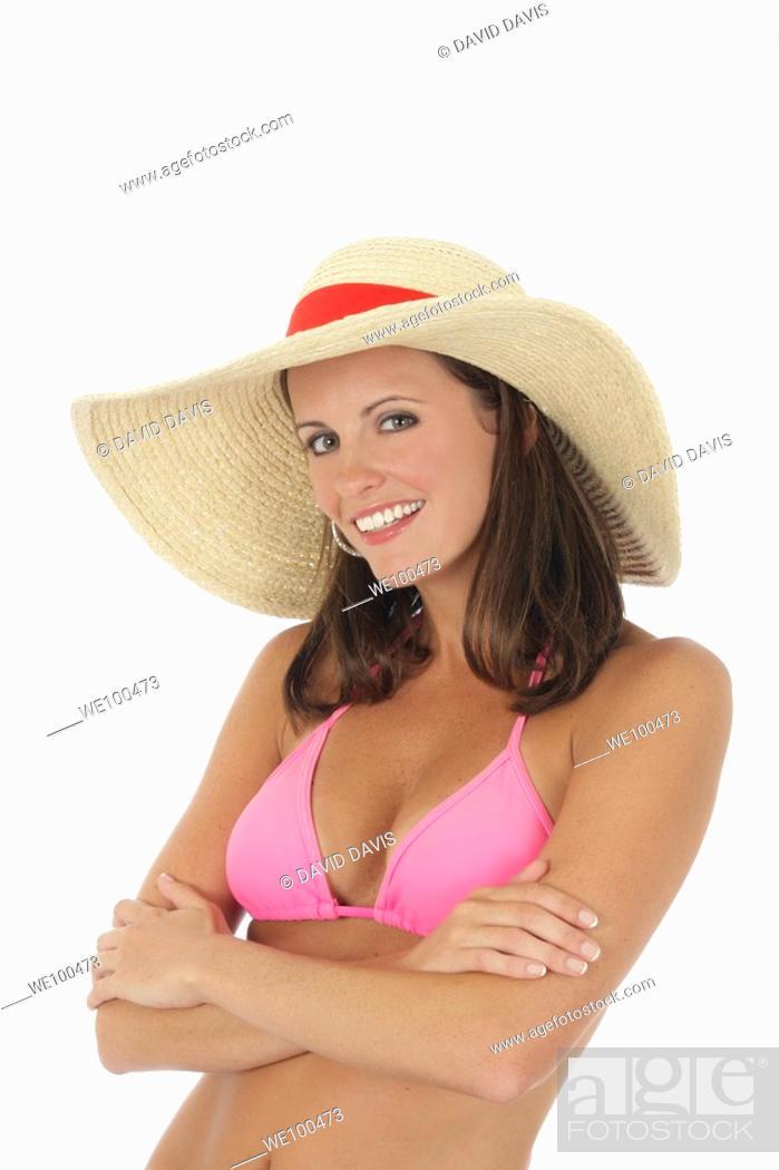 Pink bikini cowboy hat
