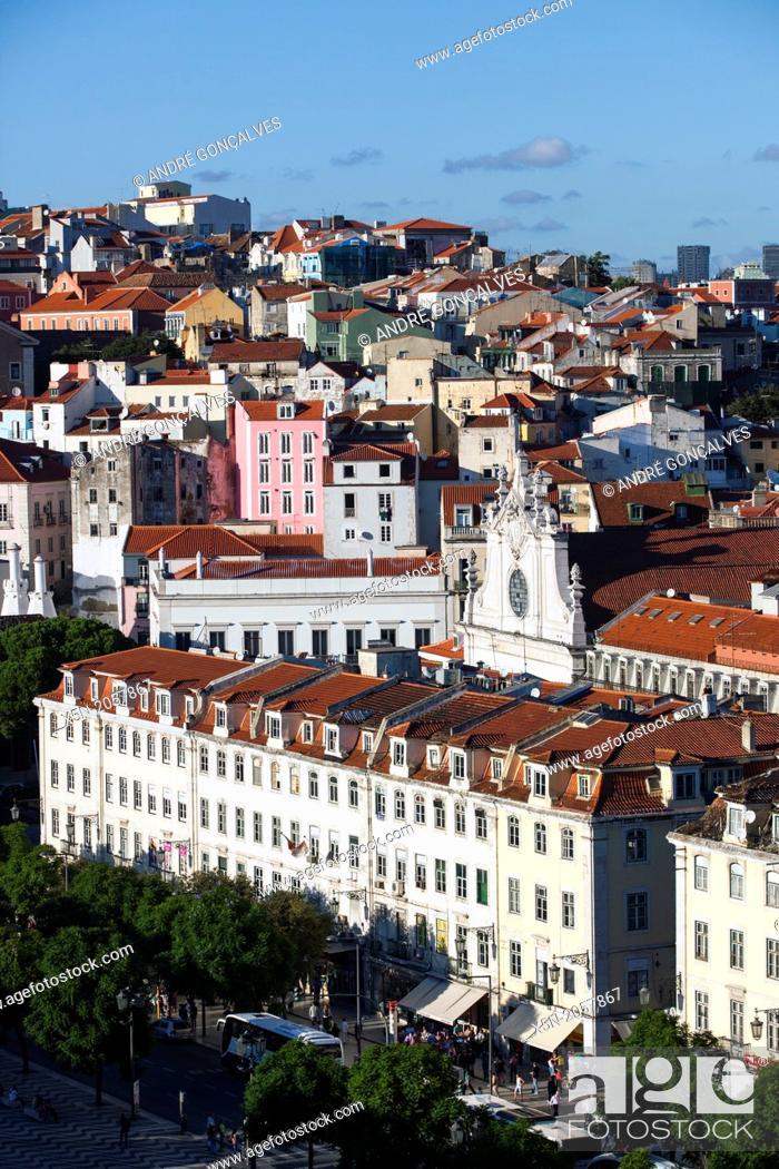 Stock Photo: Downton Lisbon, Portugal, Europe.
