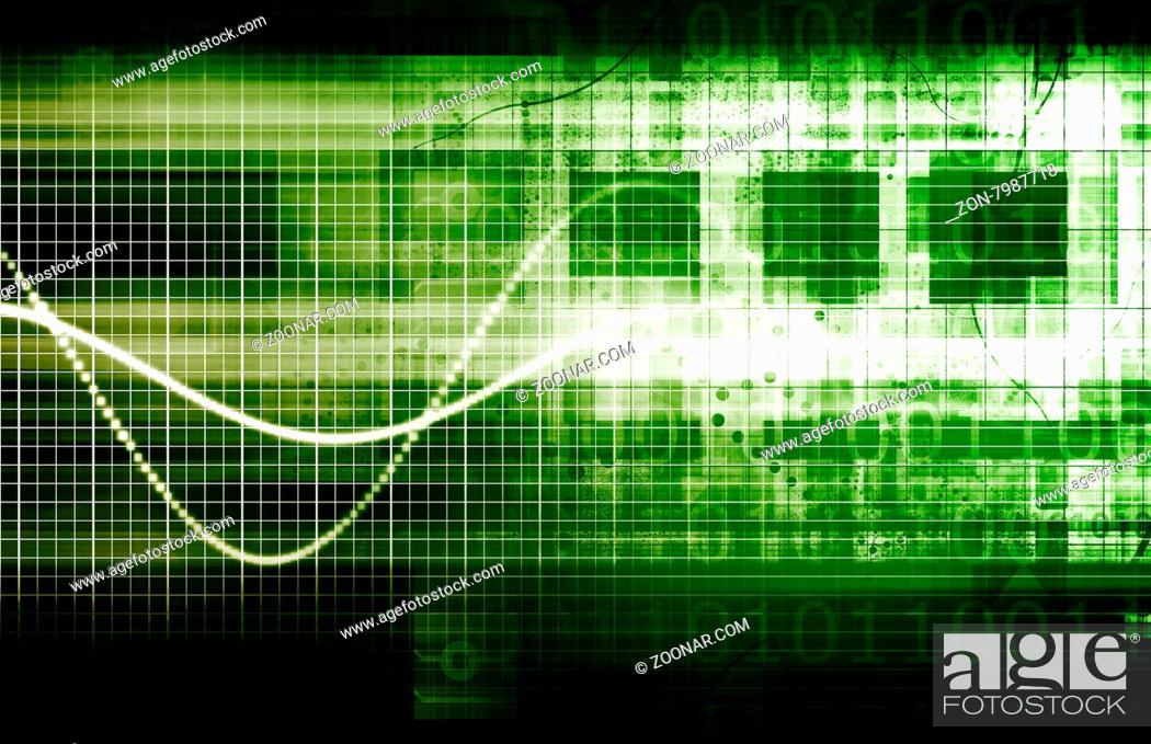 Imagen: Science Technology Data as a Abstract Art.