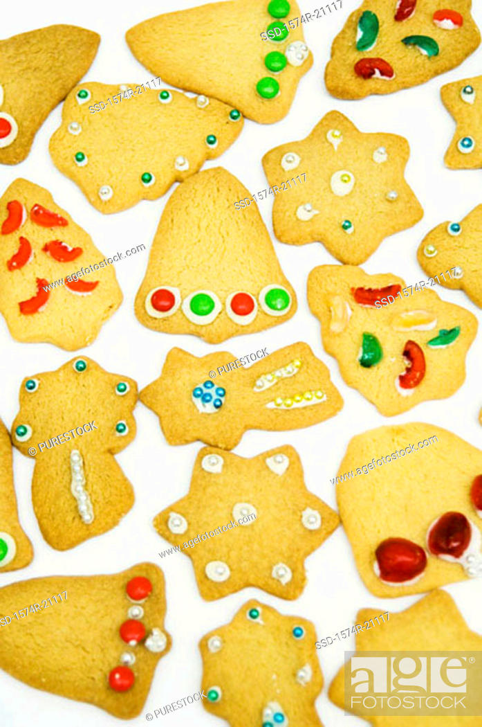 Stock Photo: Close-up of Christmas cookies.