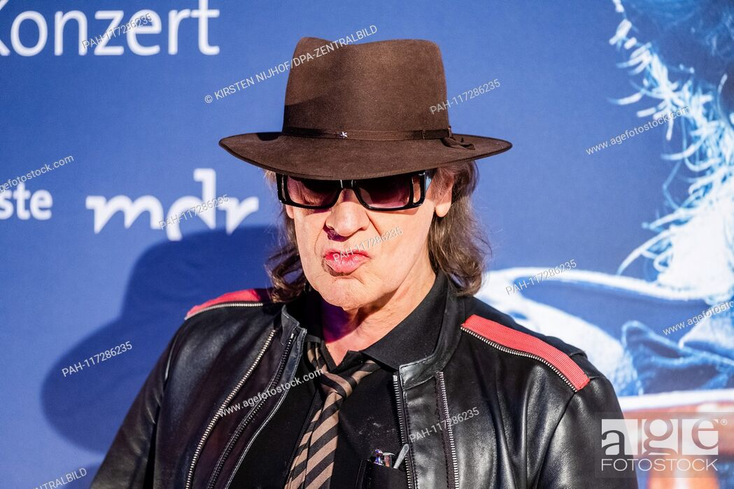 "Stock Photo: Rock musician Udo Lindenberg on the verge of a preview of two new MDR productions  € œUdo Lindenberg A """"Full speed ahead! Encounters on the Lindian Ocean € œ."