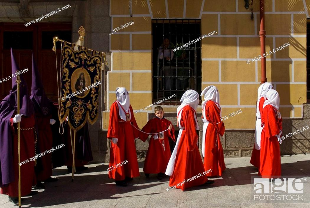 Stock Photo: Holy Week at Madrid. Spain.