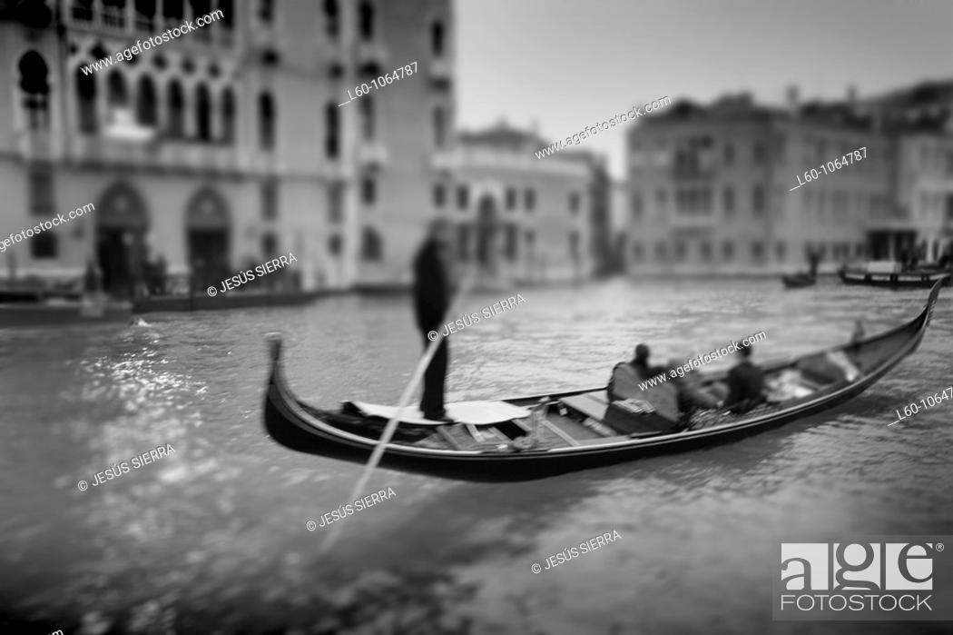 Stock Photo: Romantic Gondola in Venice, Italy.