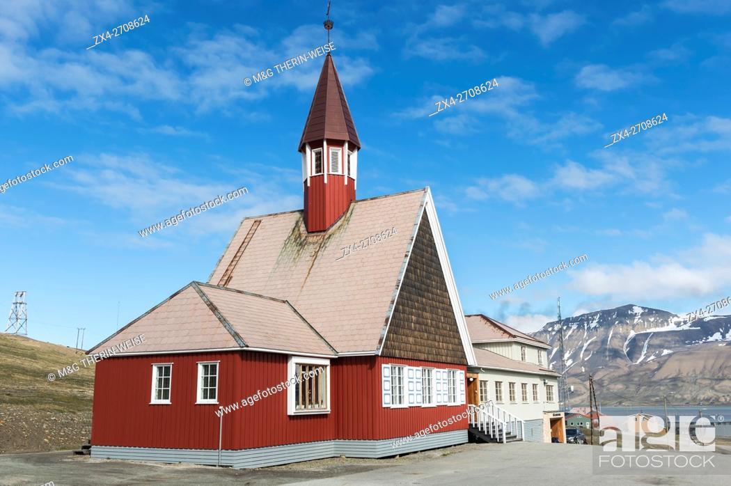 Svalbard Church Longyearbyen Spitsbergen Island Svalbard