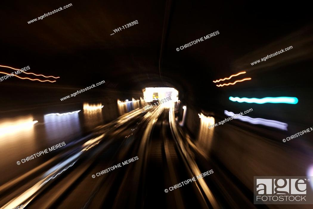 Stock Photo: View from the cab driver in Paris metro.