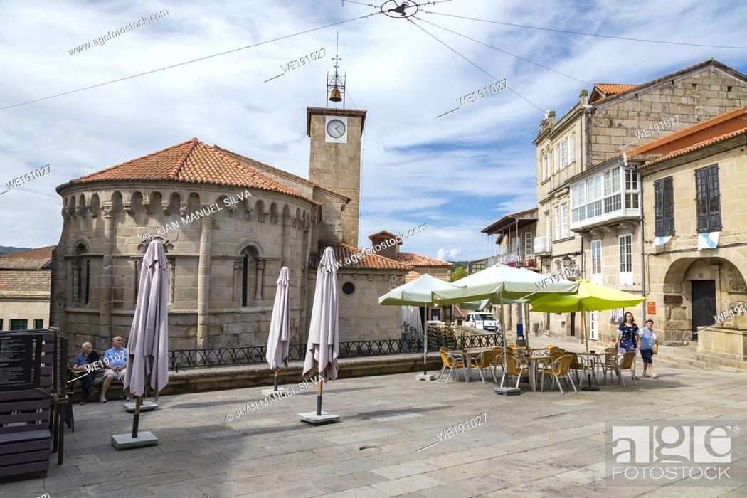 Stock Photo: Streets of Allariz, Ourense Province, Galicia, Spain.