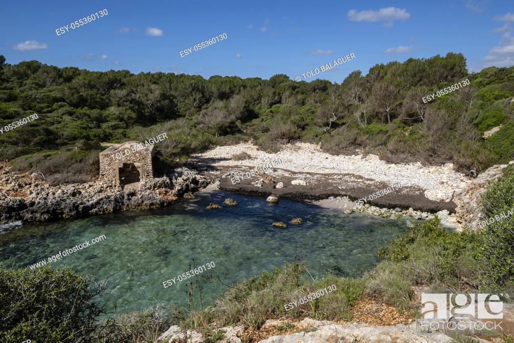 Stock Photo: Cala Brafi , Felanitx, Mallorca, Balearic Islands, Spain.