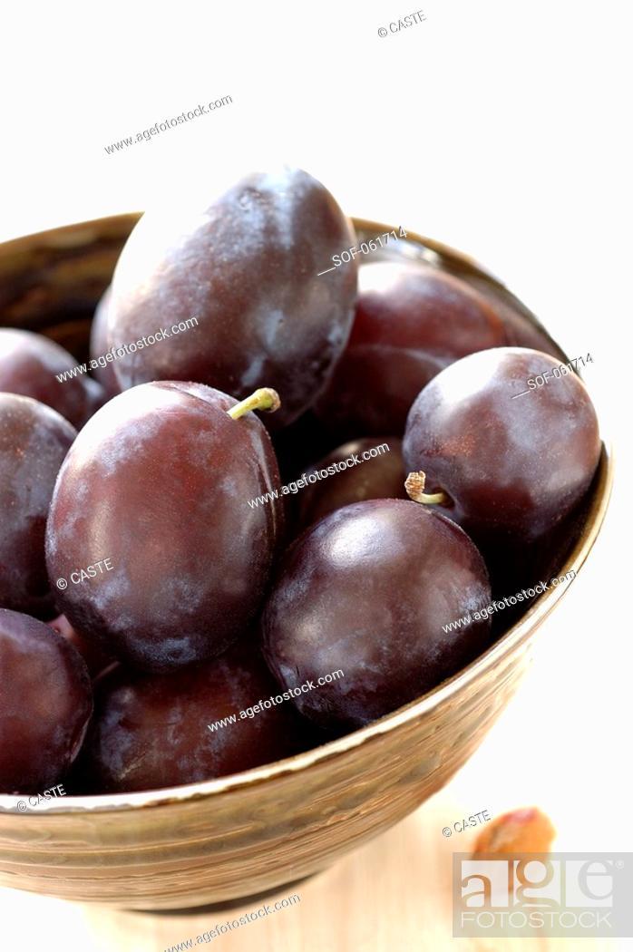 Stock Photo: Quetsch plums.