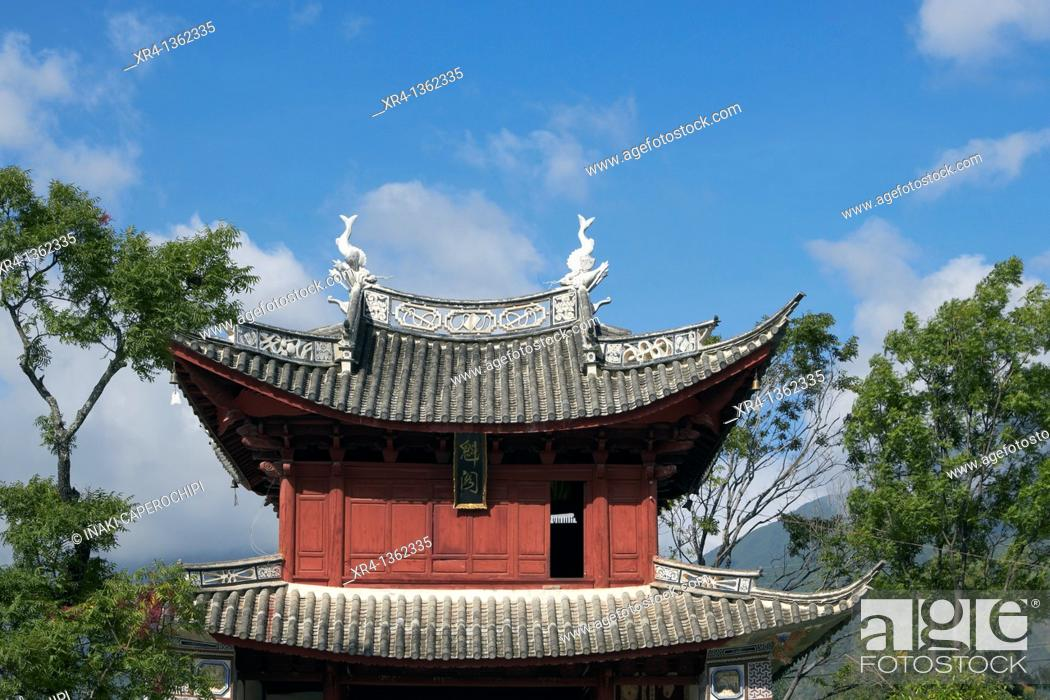 Stock Photo: Traditional architecture bai, Xizhou Dali Bai Autonomous Prefecture, Yunnan, China.