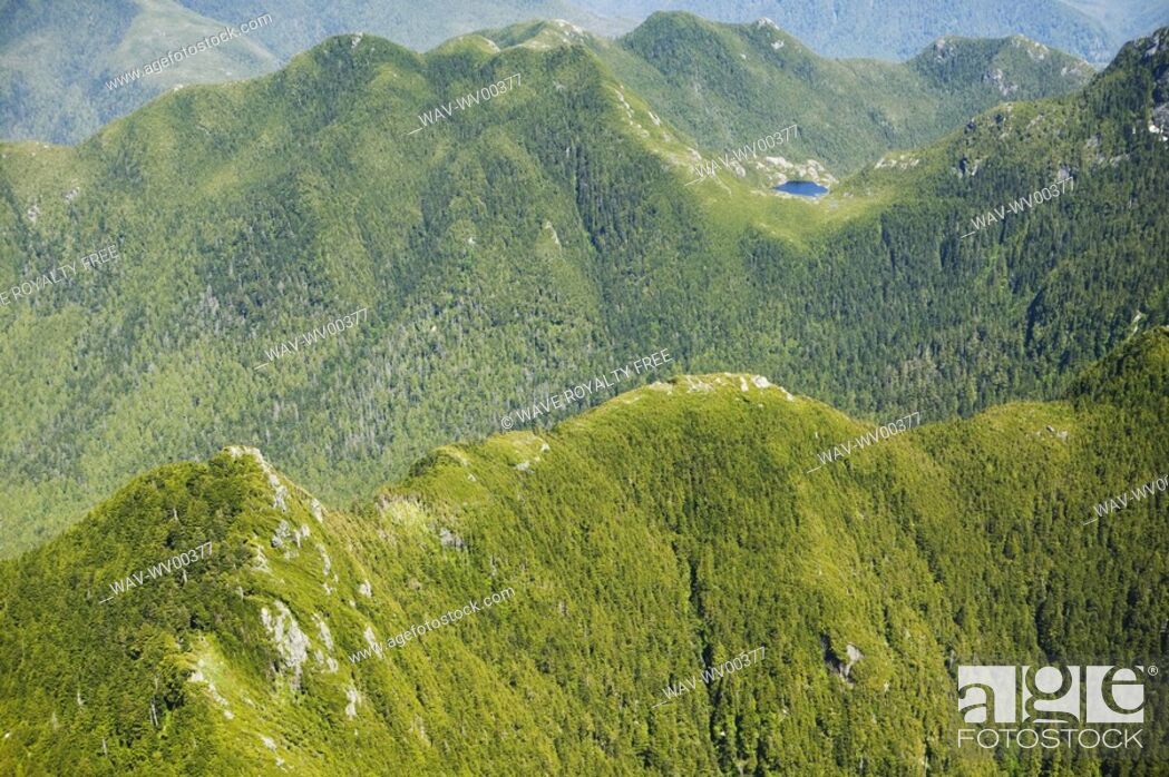 Stock Photo: Brooks Peninsula, West Coast, Vancouver Island, British Columbia, Canada.