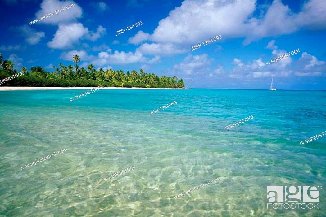 Photo de stock: Rangiroa Atoll Tuamotus Archipelago French Polynesia.