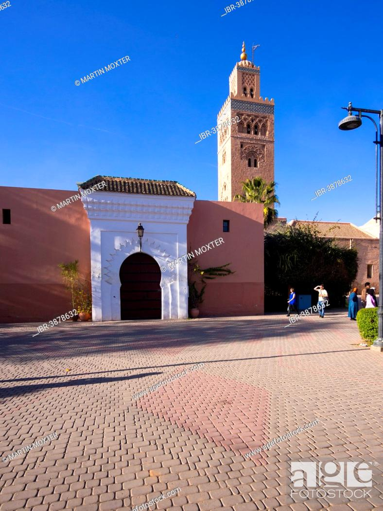 Stock Photo: Koutoubia Mosque, 1158, Medina, Marrakech, Marrakech-Tensift-Al Haouz, Morocco.