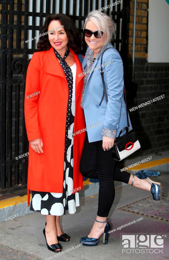 Samantha Spiro and Jaime Winstone outside ITV Studios