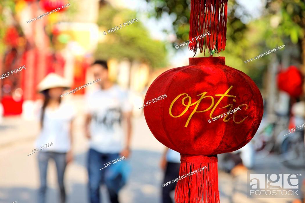 Stock Photo: Red lampion, Hoi An, Annam, Vietnam.