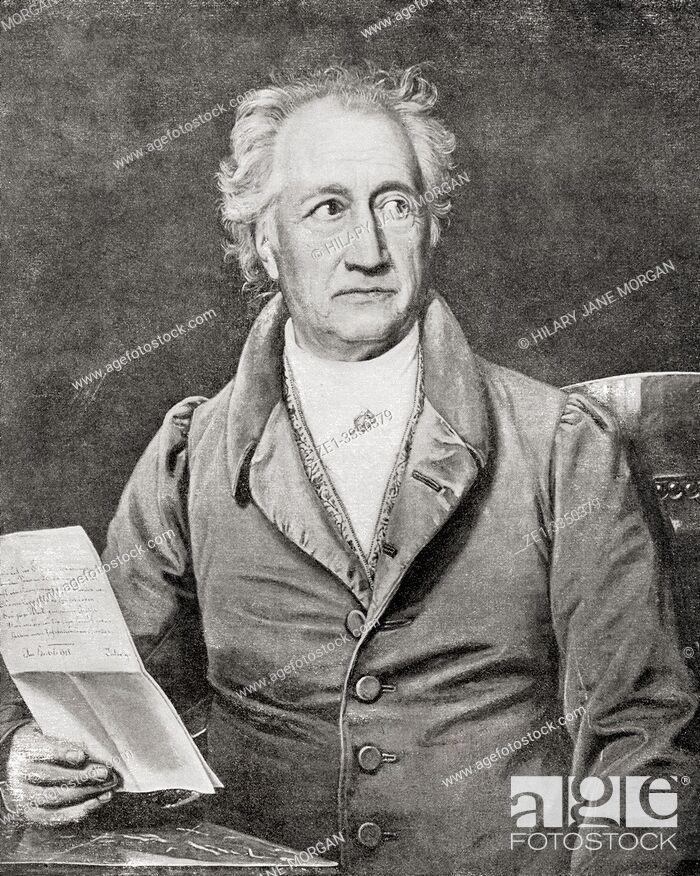 Johann Wolfgang Von Goethe 1749 â 1832 German Writer