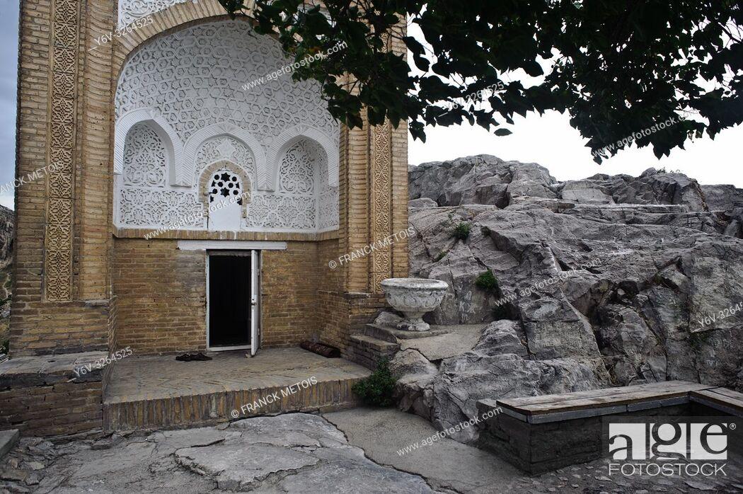 Stock Photo: Dom Babura ( Babur's house) : a little prayer-retreat built by the future Mogul emperor Babur ( when he was a teen, he was living in Central Asia) in 1497.