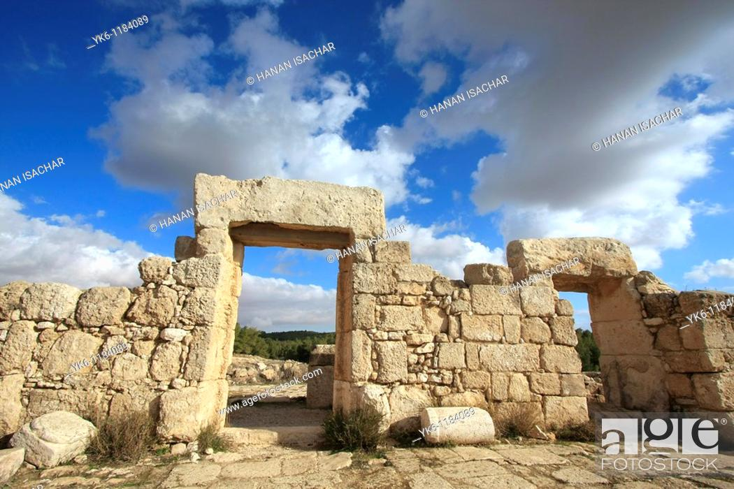 Stock Photo: Israel, Southern Hebron Mountain, the ancient Synagogue at Hurvat Anim.