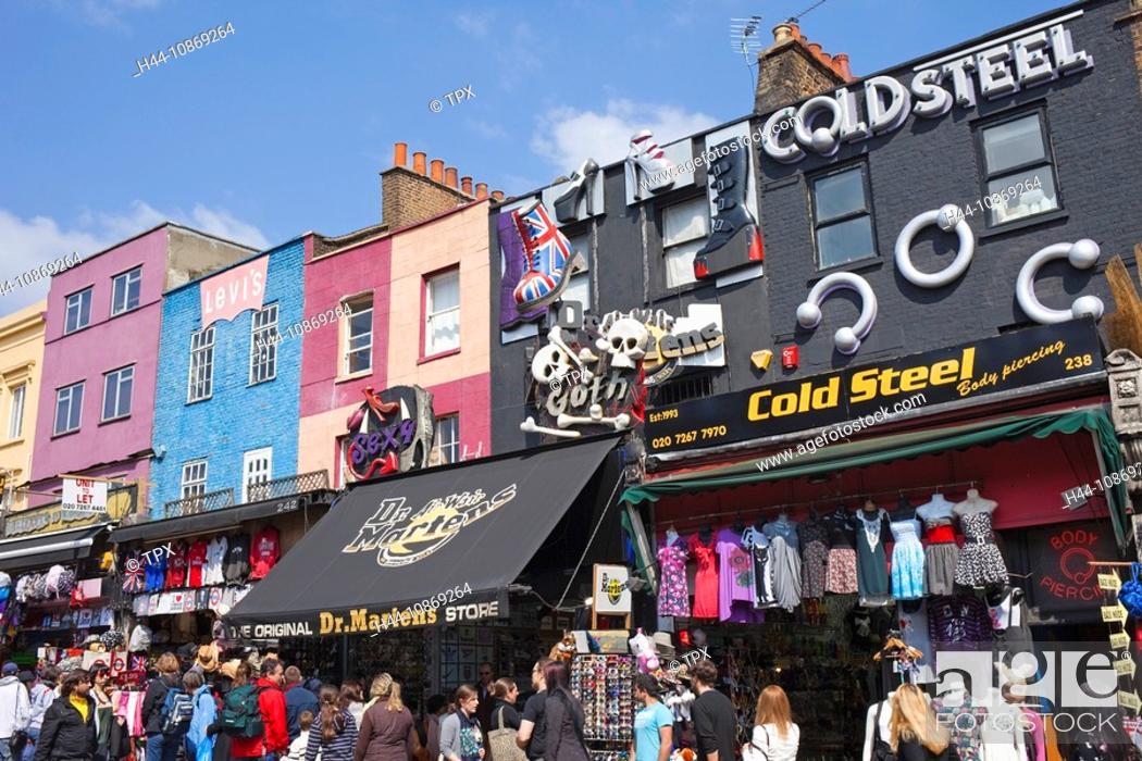 Stock Photo: England, London, Camden, Camden High Street.