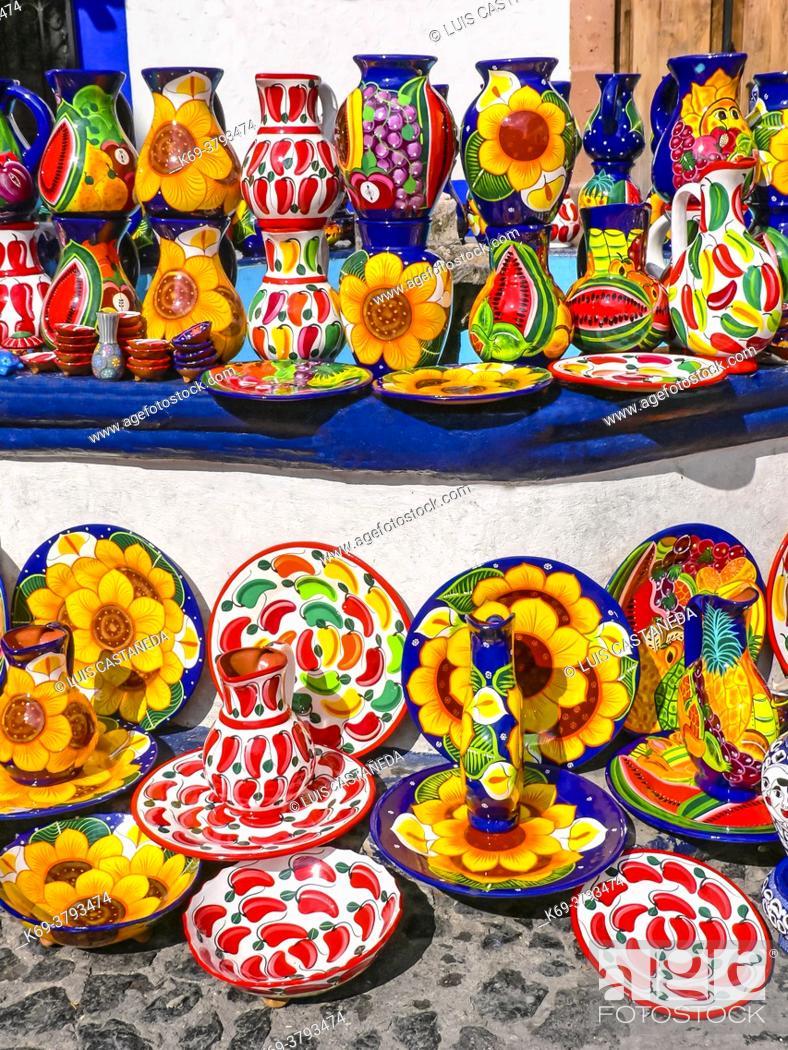 Stock Photo: Pottery. Taxco. Mexico.