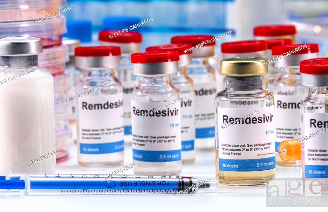 Imagen: Medication prepared for people affected by Covid-19, Remdesivir is a selective antiviral prophylactic against virus that is already in experimental use.